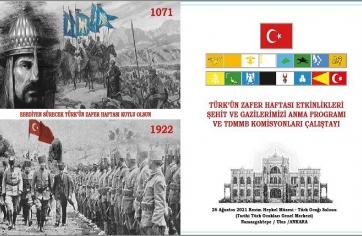 26 AĞUSTOS TÜRK'ÜN ZAFER HAFTASI ETKİNLİKLERİ