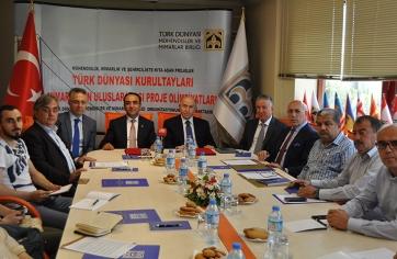 Türk Dünyası Mühendisler ve Mimarlar Birliği,basın toplantısı düzenledi